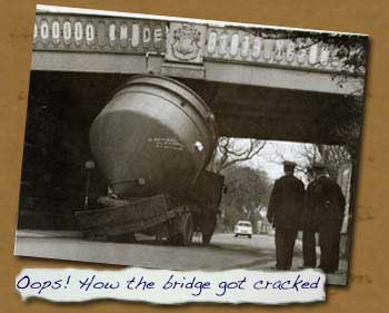Normanby Bridge Cracked