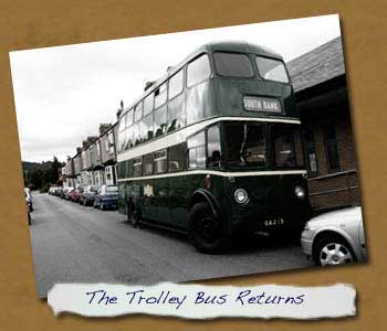Front of bus on its return to Normanby