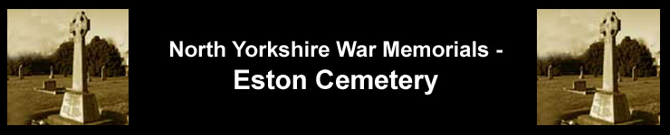 Link to North Yorkshire War Memorials - Eston Cemetery