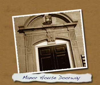 Front door of Manor House