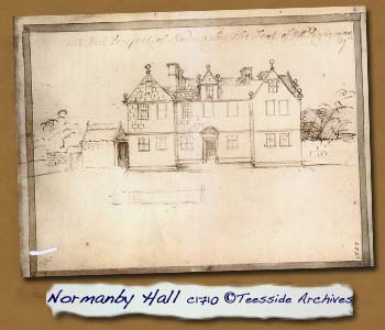 Normanby Hall c.1710 © Teesside Archives