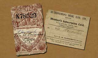 membership cards belonging to Spencer Hardwick