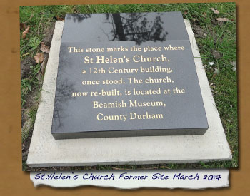 Saint Helen's Church Site Plaque 2017