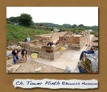 St.Helen's Tower Plinth Laid at Beamish