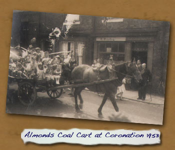 Almonds Coal Cart in Cleveland Street at Coronation 1953