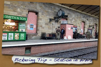 Normanby LHG Trip to Pickering -  Station in WW2