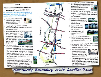 2018 Normanby Boundary Walk Leaflet:  Walk Two - - Click On This for Larger Image (Opens in New Window)