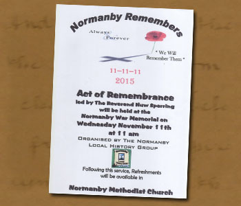 Normanby Remembers Poster