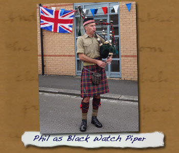 Phil as Black Watch Piper
