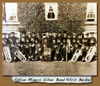 Eston Miners Silver Band - Click On This for Larger Image  			(Opens in New Window)