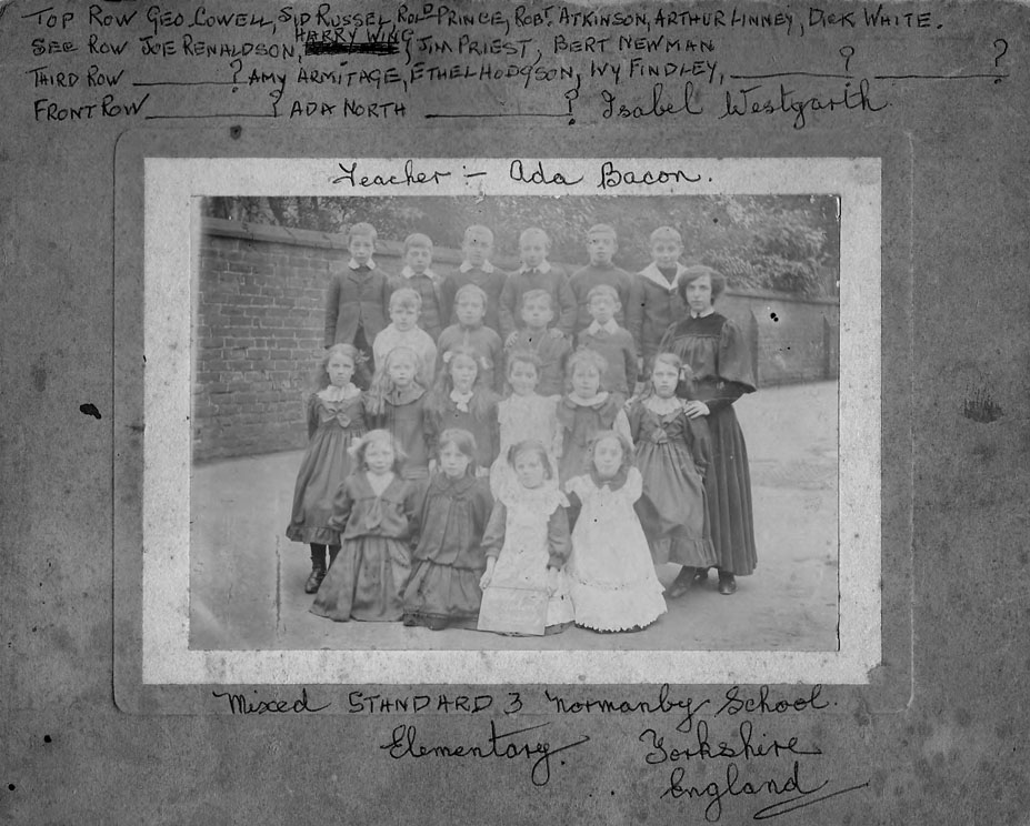 Normanby School Photo Class - 1909-class3