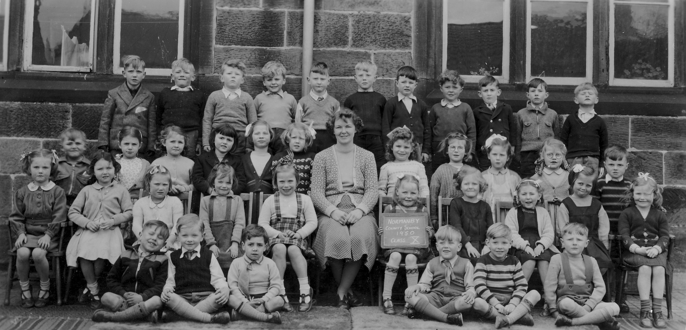 Normanby School Photo Class - 1950-class10