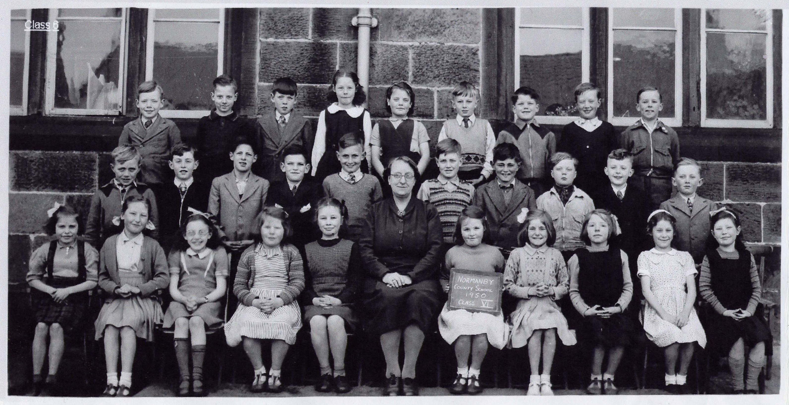 Normanby School Photo Class - 1950-class6