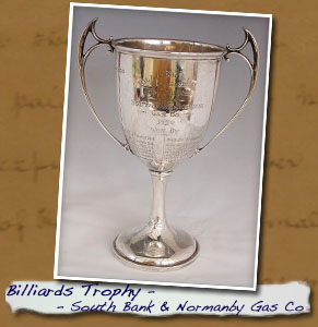 Billiards Trophy SbandNormanby Gas Co pic1