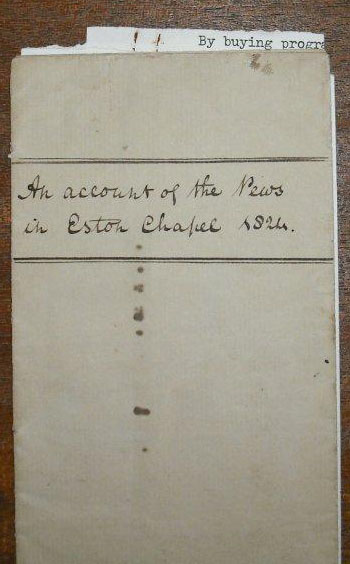 St Helens Account of the Pews 1824 cover