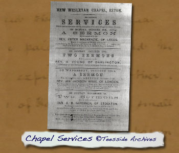 Wesleyan Chapel Services Poster
